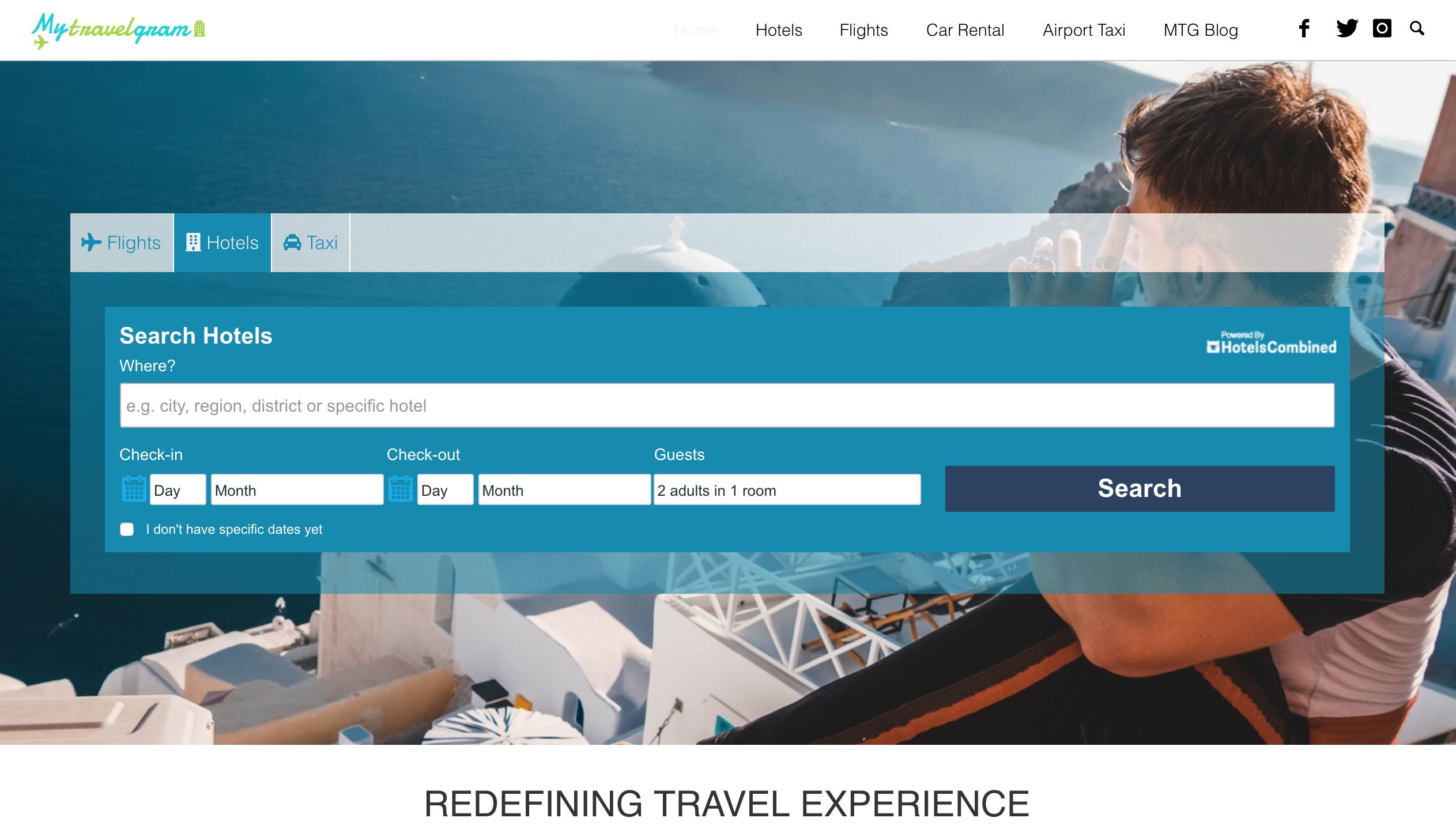 mytravelgram homepage